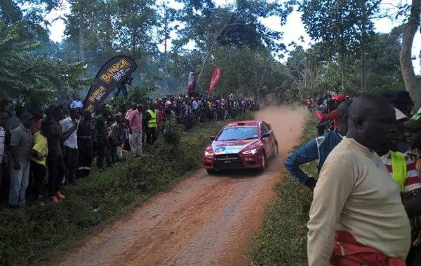 Sebuguzi and Senyage powered their car to victory on Saturday